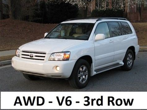 auto air conditioning service 2005 toyota highlander parental controls purchase used 2005 toyota highlander base sport utility 4 door 3 3l awd 3rd row seating in