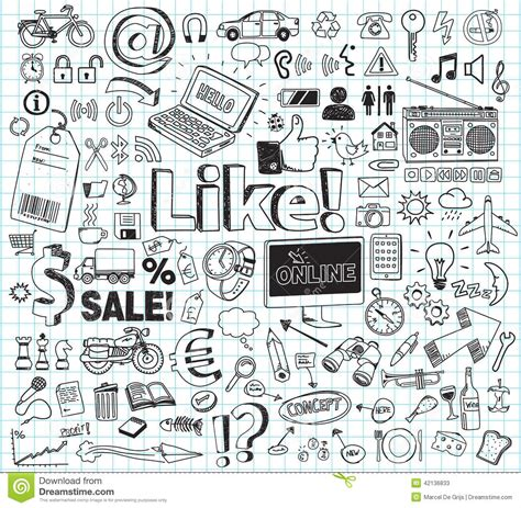 Doodle Set Stock Vector Image 42136833