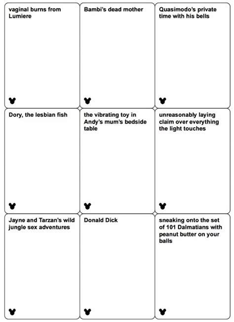 cards against humanity black back template disney cards against humanity may be coming out soon and