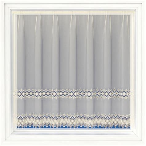 cream lace net curtains hayley cream voile with macrame lace net curtain 2 curtains