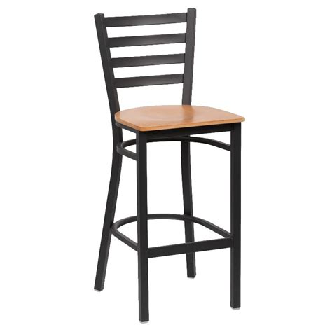 royal industries bar stools royal industries roy9002n 43 38 quot bar stool w natural wood seat metal frame matte black