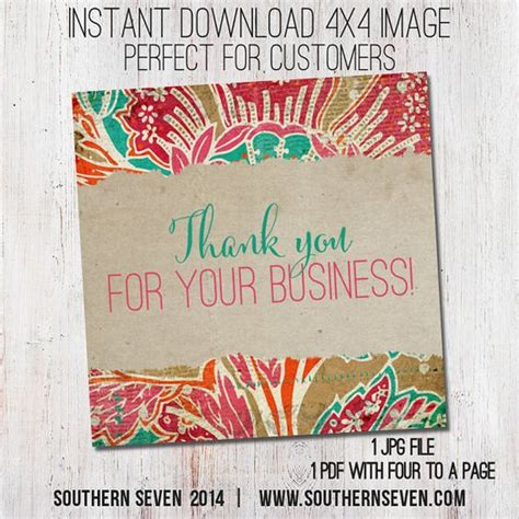 marketing card for clients thank you cards 4x4 by