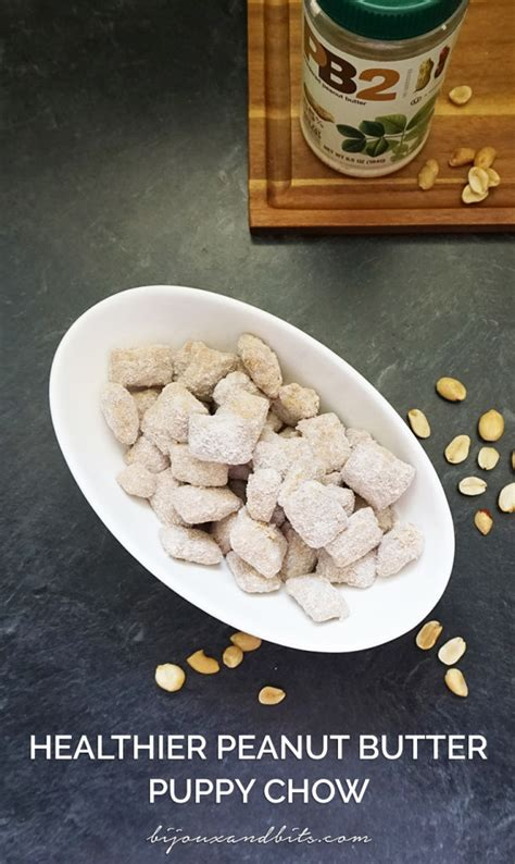 puppy chow recipe with peanut butter healthier peanut butter puppy chow bijoux bits