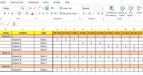 Excel Based Resource Plan Template Free Resource Allocation Template
