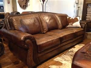 Tooled Leather Sofa Sedona Tooled Leather Sofa Town Country Leather