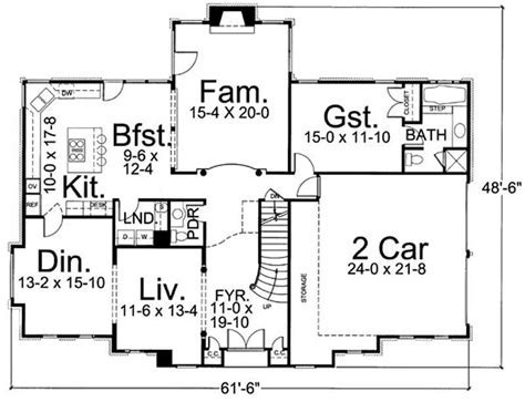 European Home with 4 Bedrooms, 3054 Sq Ft   House Plan