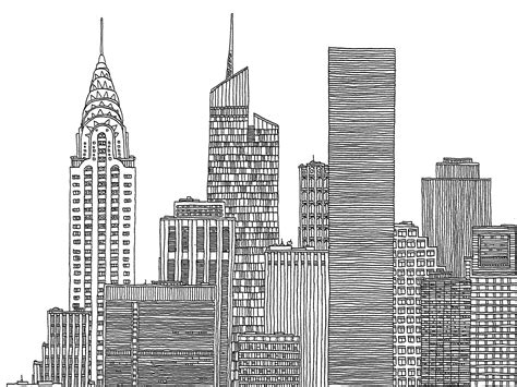 Sketches Nyc by Images For Gt New York City Skyline Black And White