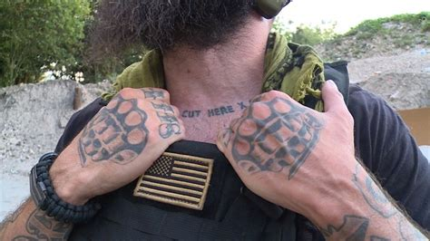 neck tattoo cut here bigger and badder us volunteers head to fight isis rt