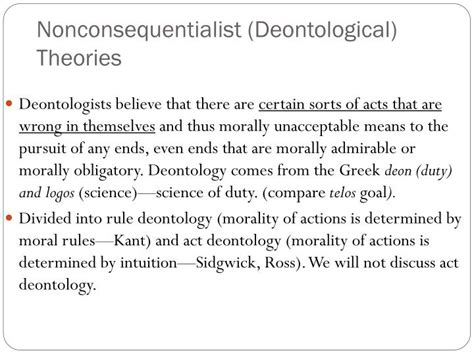 Deontology Ethics Essay by Consequentialist And Deontological