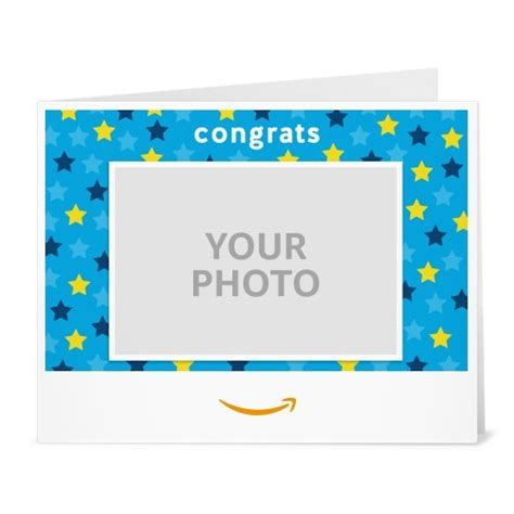 amazon printable gift vouchers upload your photo congrats stars printable amazon co