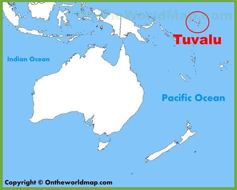 tuvalu on world map tuvalu on a map