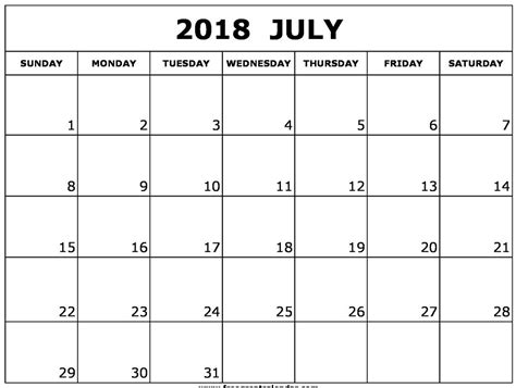 free calendar templates excel 2018 july 2018 calendar excel template printable printable