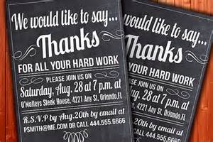 custom thank you invitation business function or