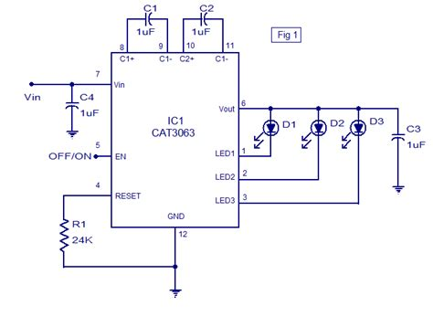 led driver schematic diagram 3 channel led driver using cat3063 electronic schematic