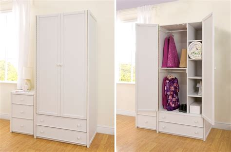 Childrens Wardrobes Uk - white combi wardrobe cbc
