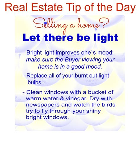 real estate tip of the day on real estate tips