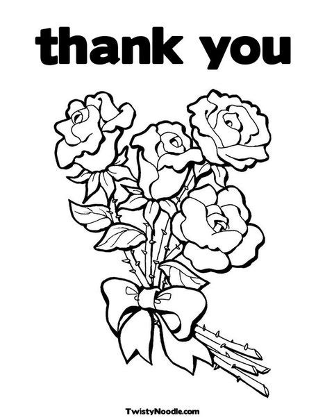 Coloring Page Thank You Card by Thank You Cards Coloring Pages Bestofcoloring
