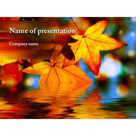 autumn templates free free autumn powerpoint template background for