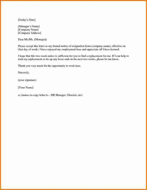 Customer Service Resignation Letter Exle Letter Of Resignation Sles 2016 Jennywashere