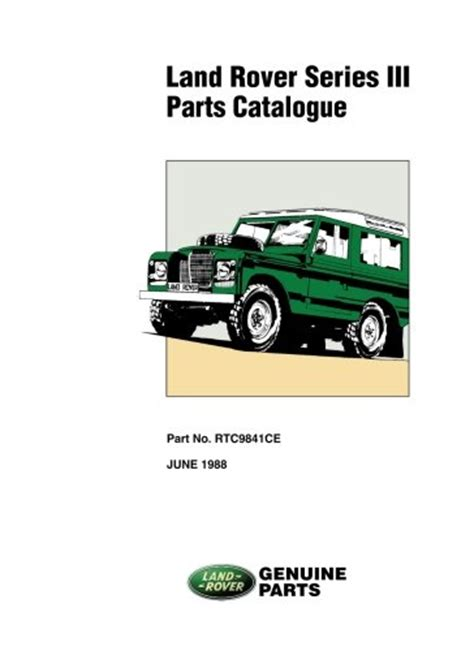 land rover series 3 parts catalog new paperback book