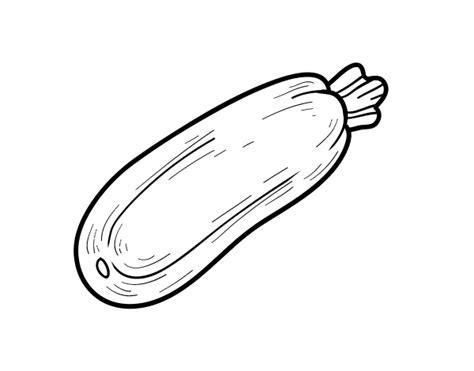 imagenes de verduras a blanco y negro dibujo de un calabac 237 n para colorear dibujos net