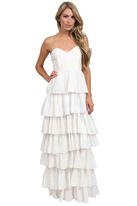 Tier Maxi Dress thayer tiered maxi dress in white ivory lyst