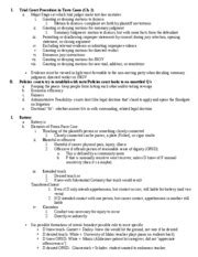 Torts Attack Outline by Robertson Torts Sheet Alex More Attack Outline I Procedure Dismiss Didn T State A Claim