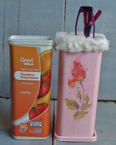 Decoupage On Plastic Containers - best 25 plastic container crafts ideas on