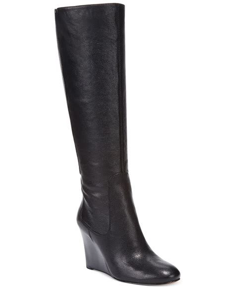 wide dress boots for nine west heartset wedge wide calf dress boots in
