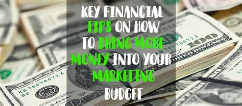 key financial tips    bring  money