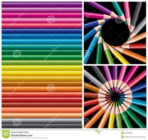 colorful pencils and office supplies collage stock photo colored pencils collage royalty free stock photos image