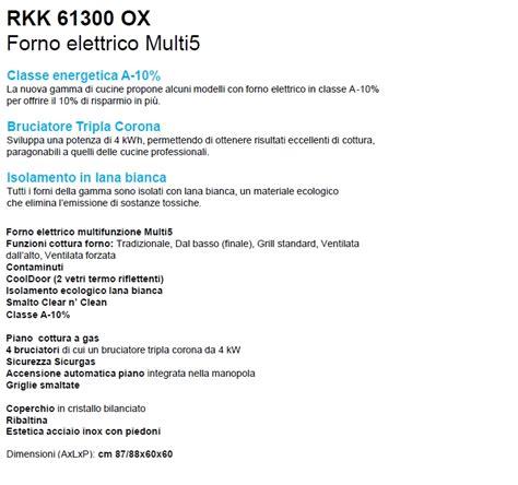 rex cucine electrolux rex rkk61300ox cucine comet