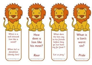printable lion bookmarks more african animal printables