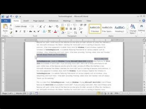 format lop word 2010 word 2010 paragraph formatting youtube