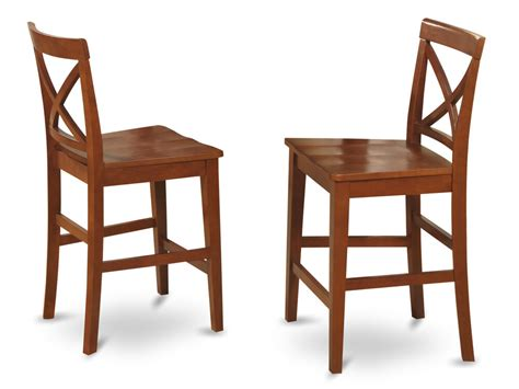 Kitchen Counter Chairs by Set Of 2 Kitchen Counter Height Chairs With Plain Wood