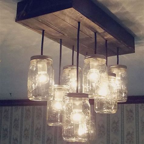 can totally make this pallet jar and bulbs