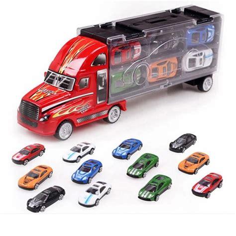 Camion Porte Voiture Jouet by Jouets Camion Et 12 Voitures Transporteur Porte Conteneur