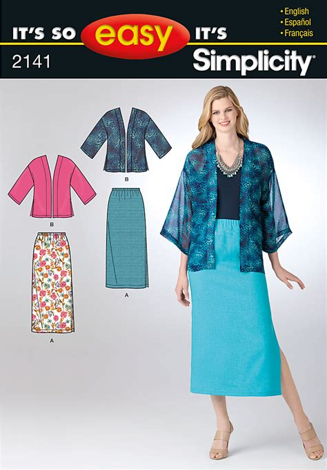 pattern review com login simplicity 2141 misses skirt and kimono