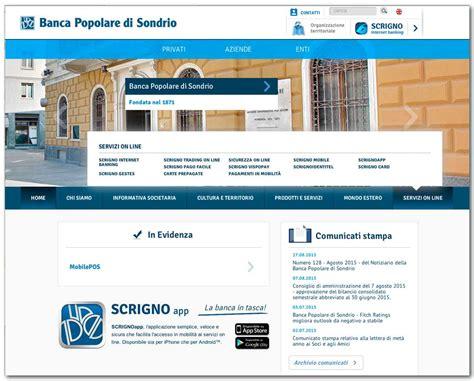 scrigno banking banca popolare di sondrio 38 servizi on line scrigno banking scrigno