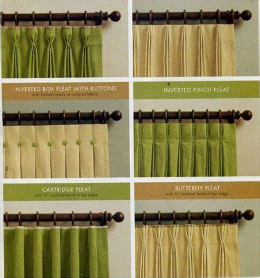 window curtain types drapery details at the top pleats trim embellishments