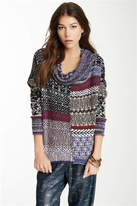Patchwork Sweater - patchwork sweater fashion