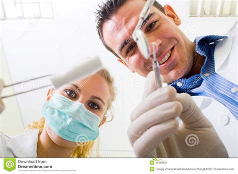 dentist and assistant royalty free stock photography