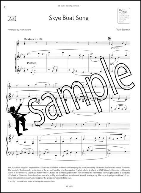 skye boat song alto sax saxophone exam pack 2018 2021 abrsm grade 1 hamcor