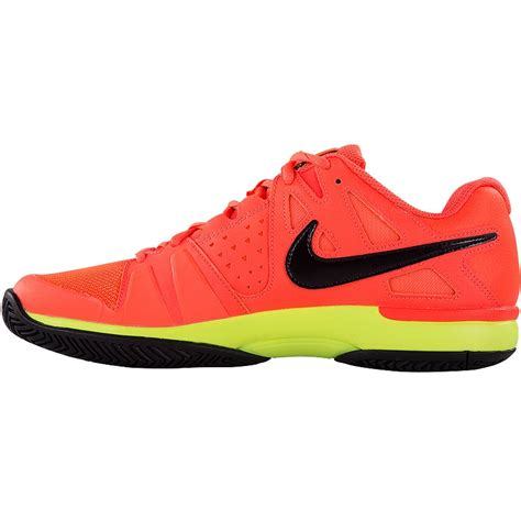 nike air vapor advantage s tennis shoe orange black