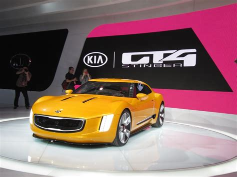 The New Kia Car Kia Gt4 Stinger Concept At 2014 Detroit Auto Show