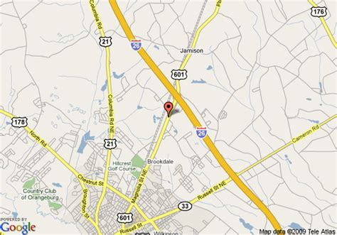 comfort inn orangeburg south carolina map of comfort inn and suites orangeburg