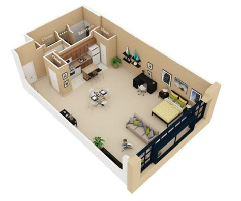 efficiency apartment plans studio apartment floor plans
