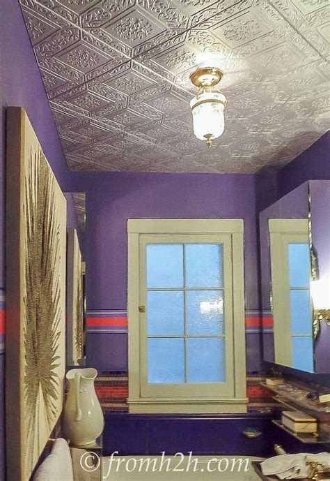 how to cover popcorn ceilings how to cover a popcorn ceiling by installing faux tin