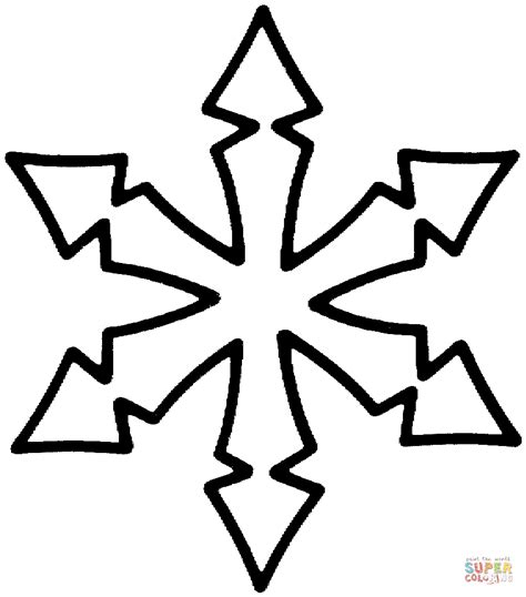 Simple Snowflake Coloring Pages Coloring Home Snowflake Coloring Pages