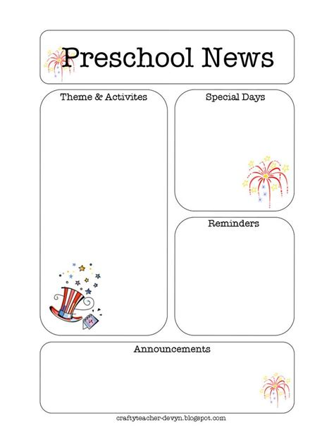 free newsletter templates for preschool 25 best ideas about preschool newsletter templates on